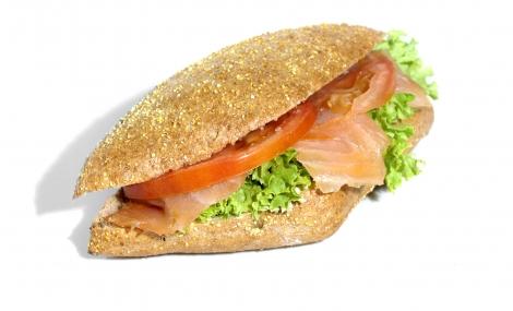 Lososový sendvič