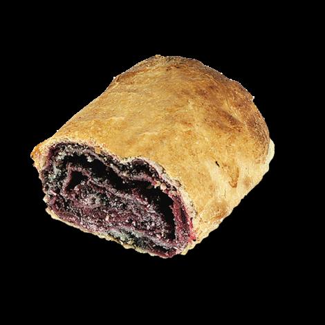 Štrúdľa višňovo-maková (rez)
