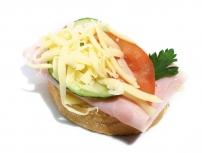 Chlebíček šunkovo - syrový
